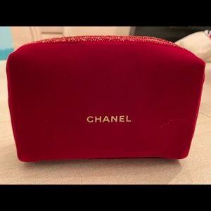 NWT Chanel Red Velvet Makeup Bag